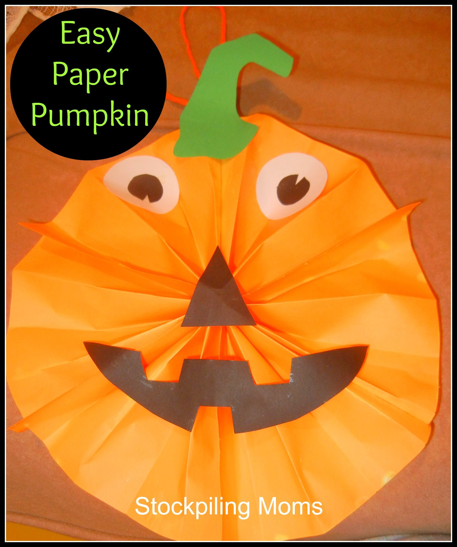 Halloween Craft Easy Paper Pumpkin | halloween | Pinterest ...