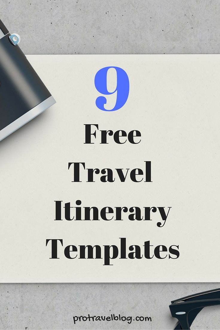 Useful Travel Itinerary Templates That Are  Free  Itinerary