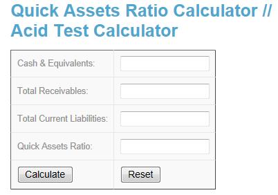 Quick Ets Ratio Calculator Www