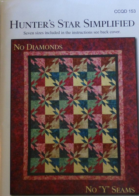 Hunter's Star Simplified~Pattern,Quilt, Calico Carriage Quilt ... : calico carriage quilt designs - Adamdwight.com