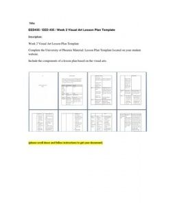 Complete The University Of Phoenix Material Lesson Plan Template - University lesson plan template