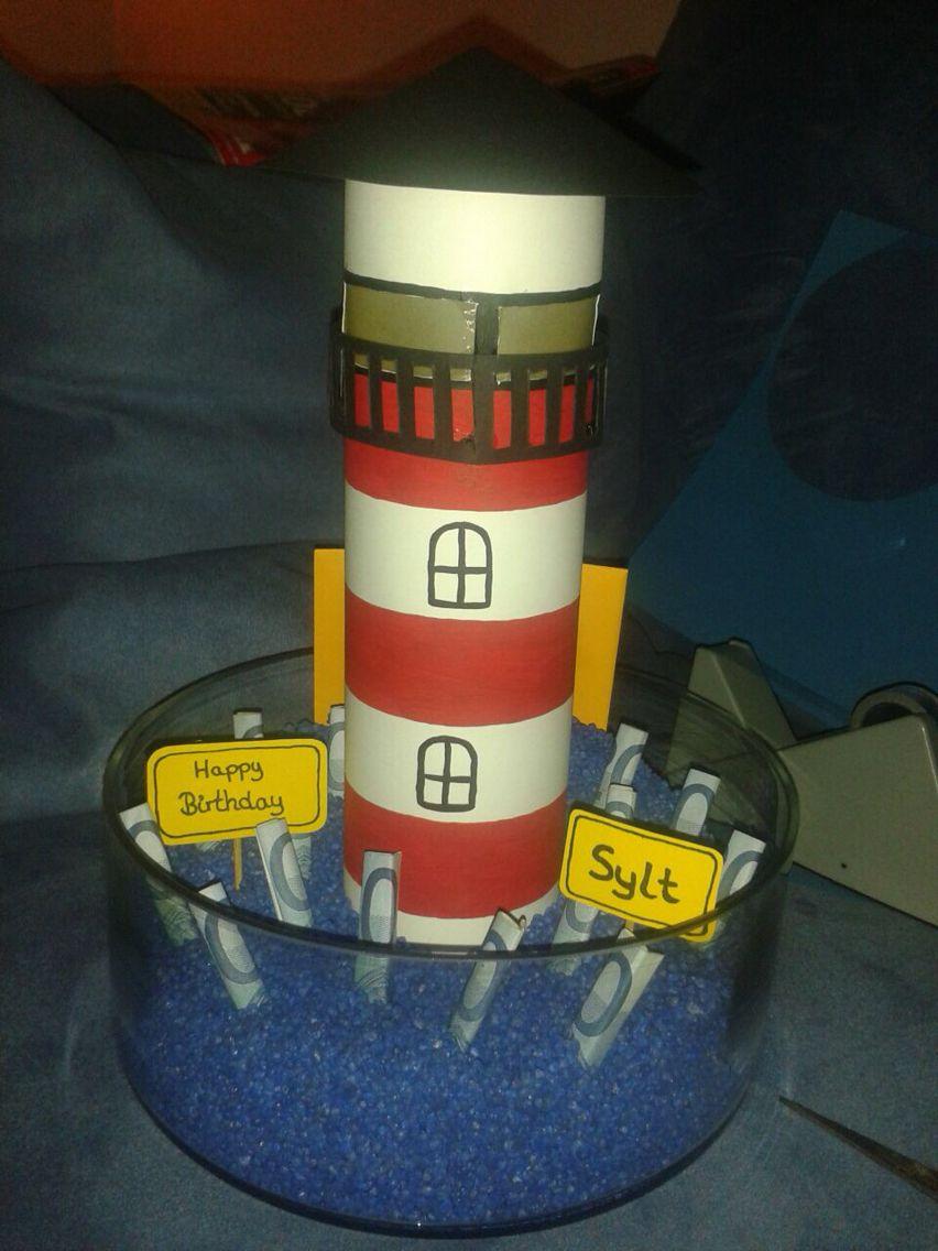 leuchtturm sommer pinterest geschenke basteln leuchtturm basteln und geldgeschenke. Black Bedroom Furniture Sets. Home Design Ideas