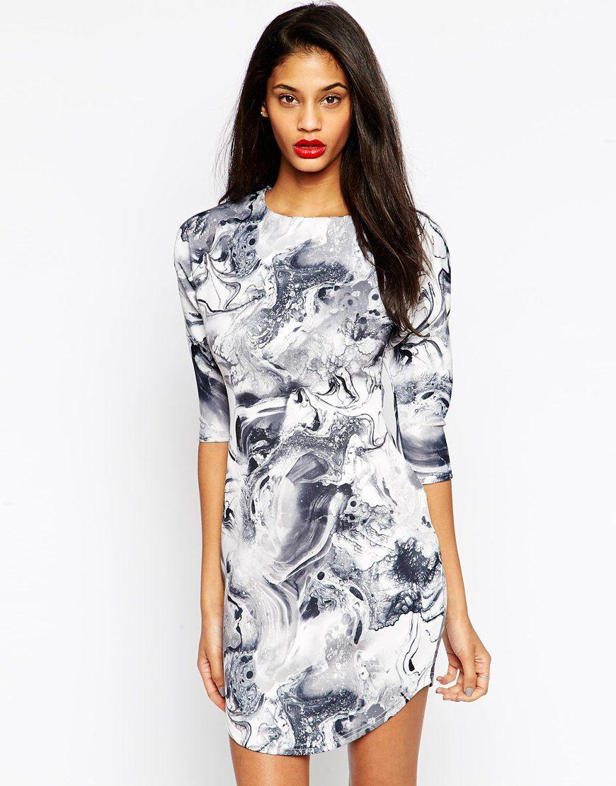 Mini Dress in Marble Print  292f3b1fc87