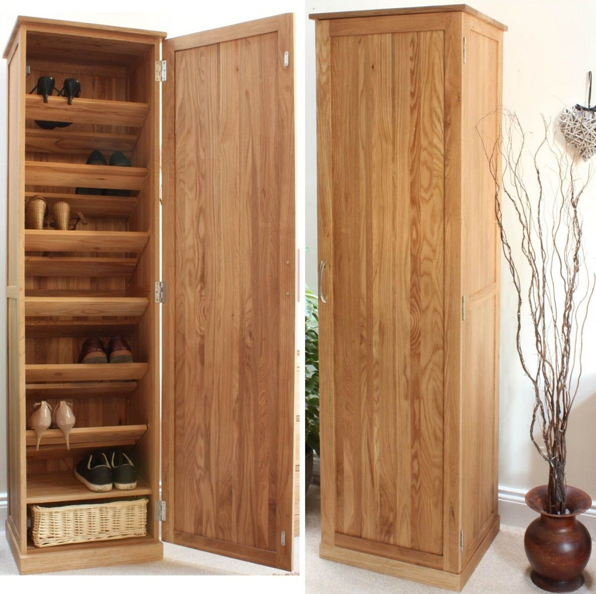 furniture tall closed wooden shoe rack cabinet with 7 on shoe rack wooden with door id=53023