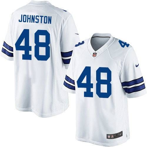 4bf949af5ae Nike Limited Daryl Johnston White Men's Jersey - Dallas Cowboys #48 NFL Road