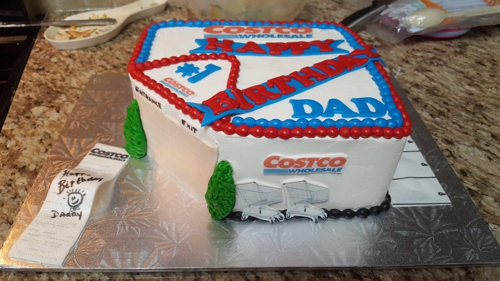 Dad Asked For A Cake From Costco So They Just Gave Him A Cake Of ...