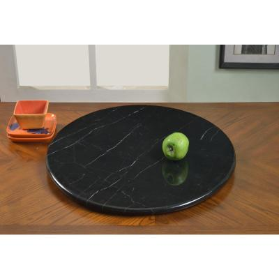 24 In Black Lazy Susan Marble Lzy Ssn Mbl Blk Lazy Susan