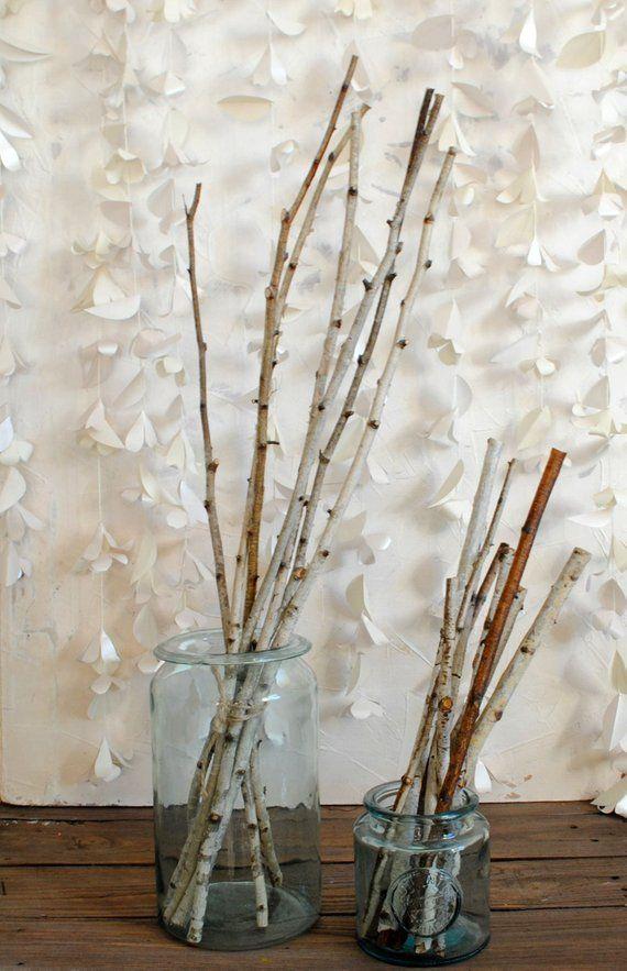 Natural Birch Wood Sticks For Craft Easter Decor Spring Dried Arrangement Magic Rituals Tool