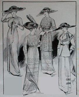 e79bebd90d0c Abiti Antichi - Storia della Moda 1910-1914