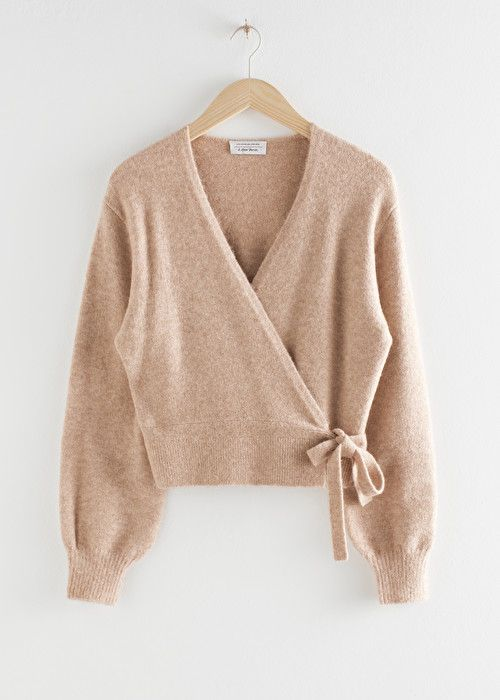 PDP Beige Oatmeal & Other Stories | Wrap cardigan