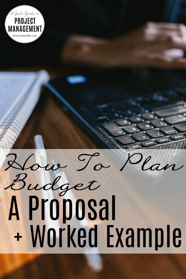 Planning a Budget for a Proposal in 5 Easy Steps (+ Example - project proposal example
