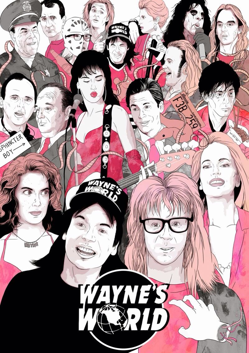 "Waynes World Movie Poster 24/""X36/"""