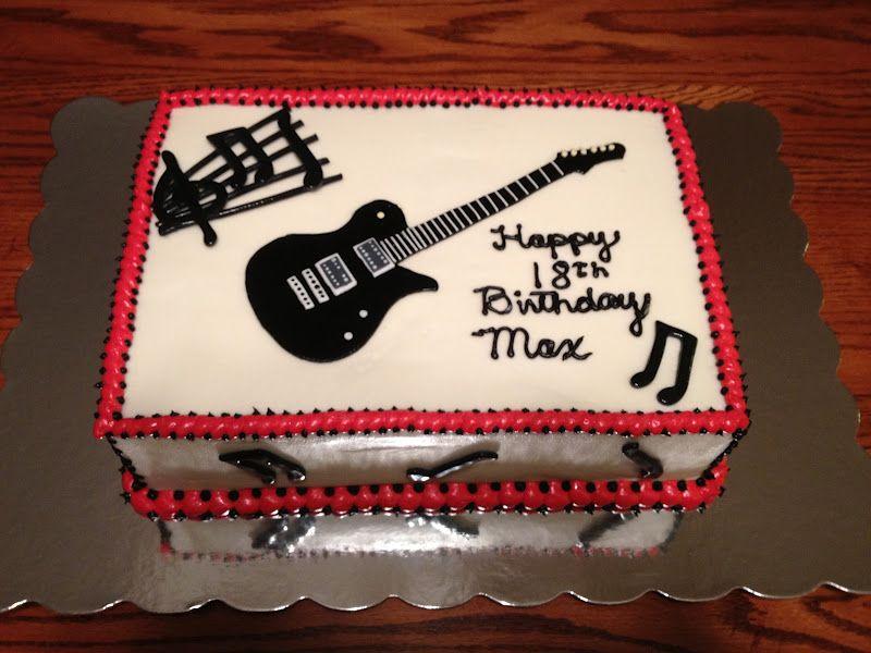 Music Decorated Slab Cake