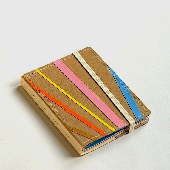 Stripey Upcycled Mini Journal by stripeycity on Etsy, $14.00