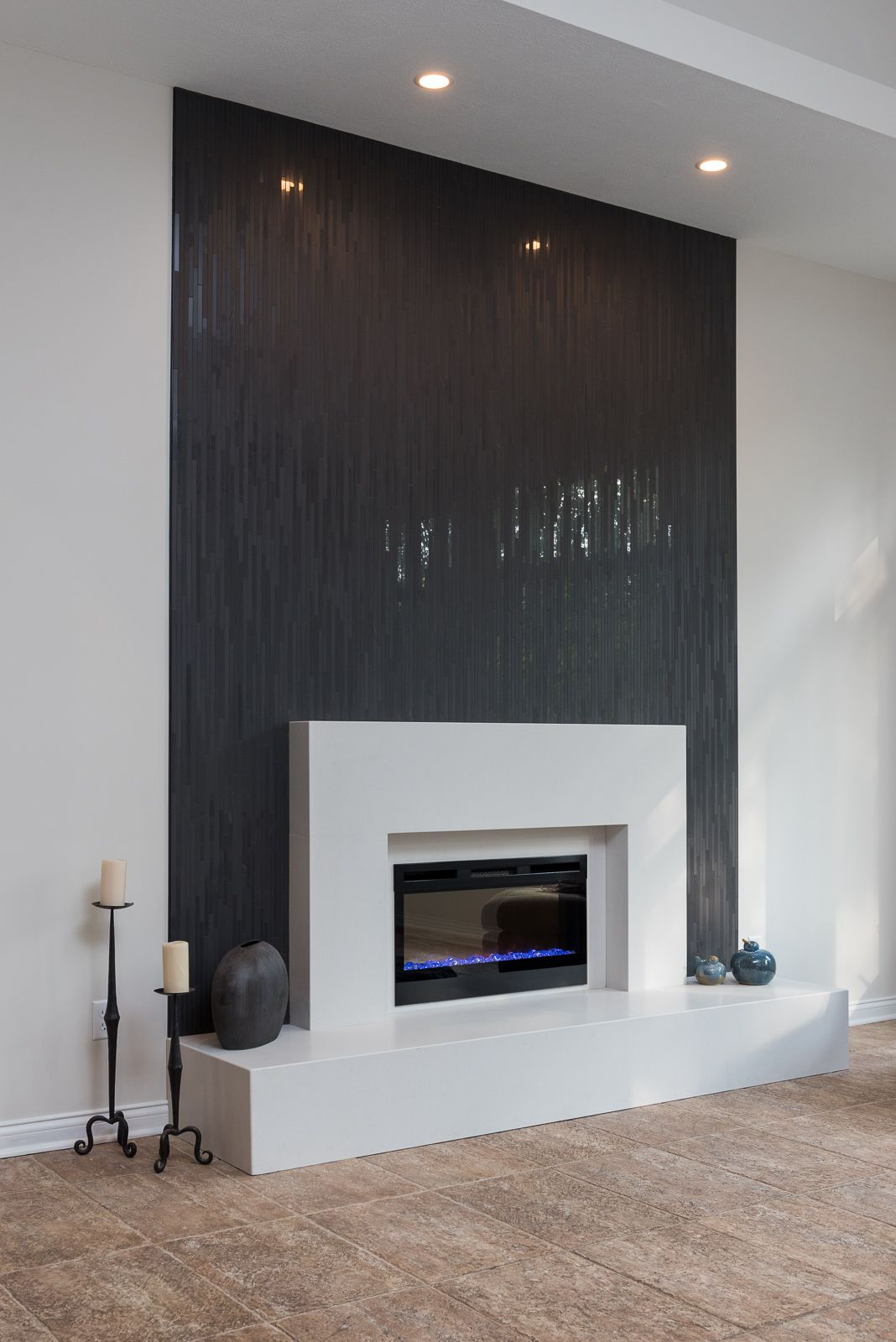 Contemporary Fireplace Black Fireplace Surround Fireplace Surrounds Home Fireplace