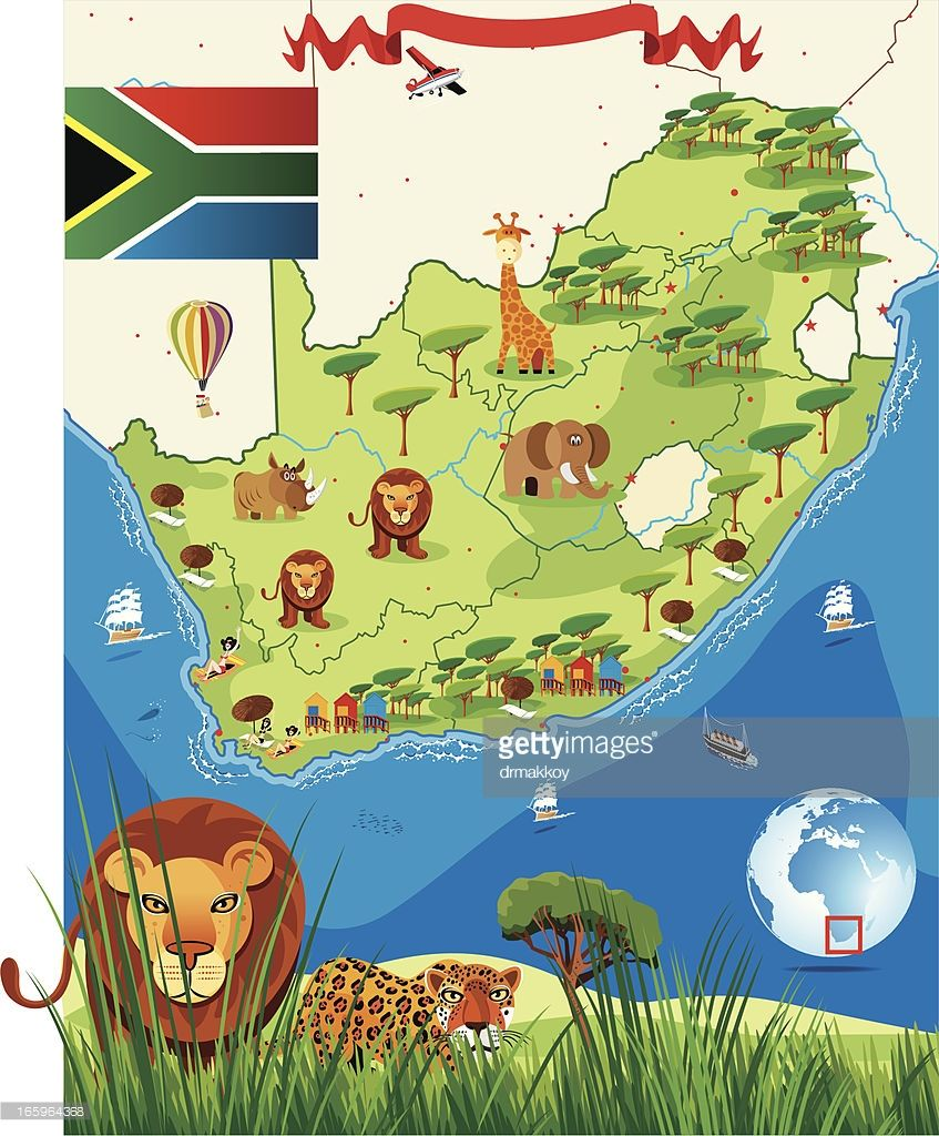 Cartoon Map Of South Africa on