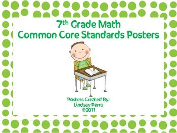 seventh grade math common core standards posters teaching pinterest seventh grade math. Black Bedroom Furniture Sets. Home Design Ideas