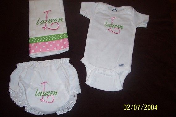 Custom Boutique Personalized Embroidered Baby Gift by myellabellas, $27.00