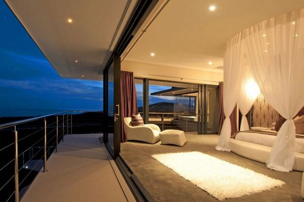 open concept master bedroom overlooking the sky - Bedroom Balcony Designs