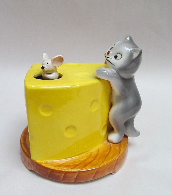 Otagiri 1979 Cat Mouse and Cheese Music Box by YBINUCAROL on Etsy,