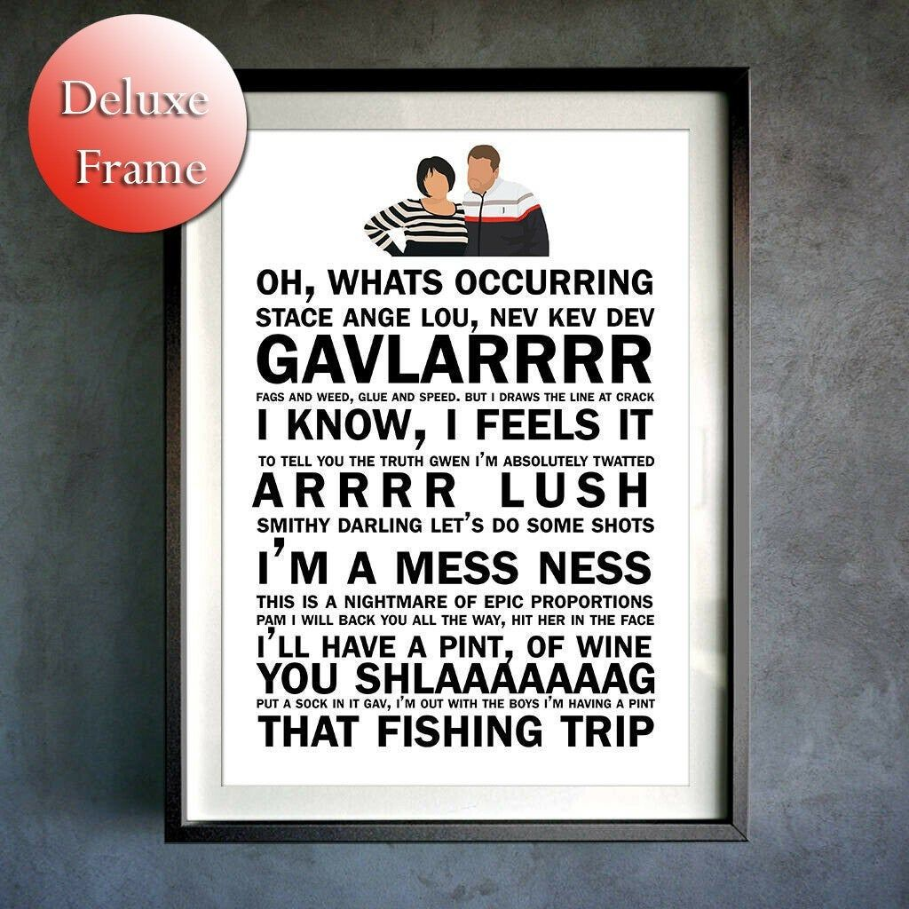 Gavin And Stacey Word Art Text Print Smithy Nessa Bryn Poster