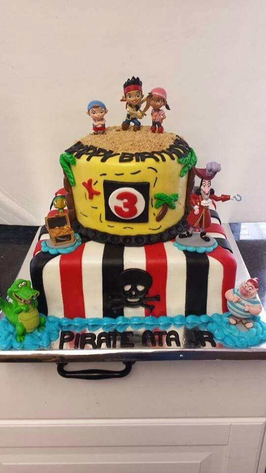 Jake and the Neverland Pirates Cake 2 Birthday Cakes Pinterest