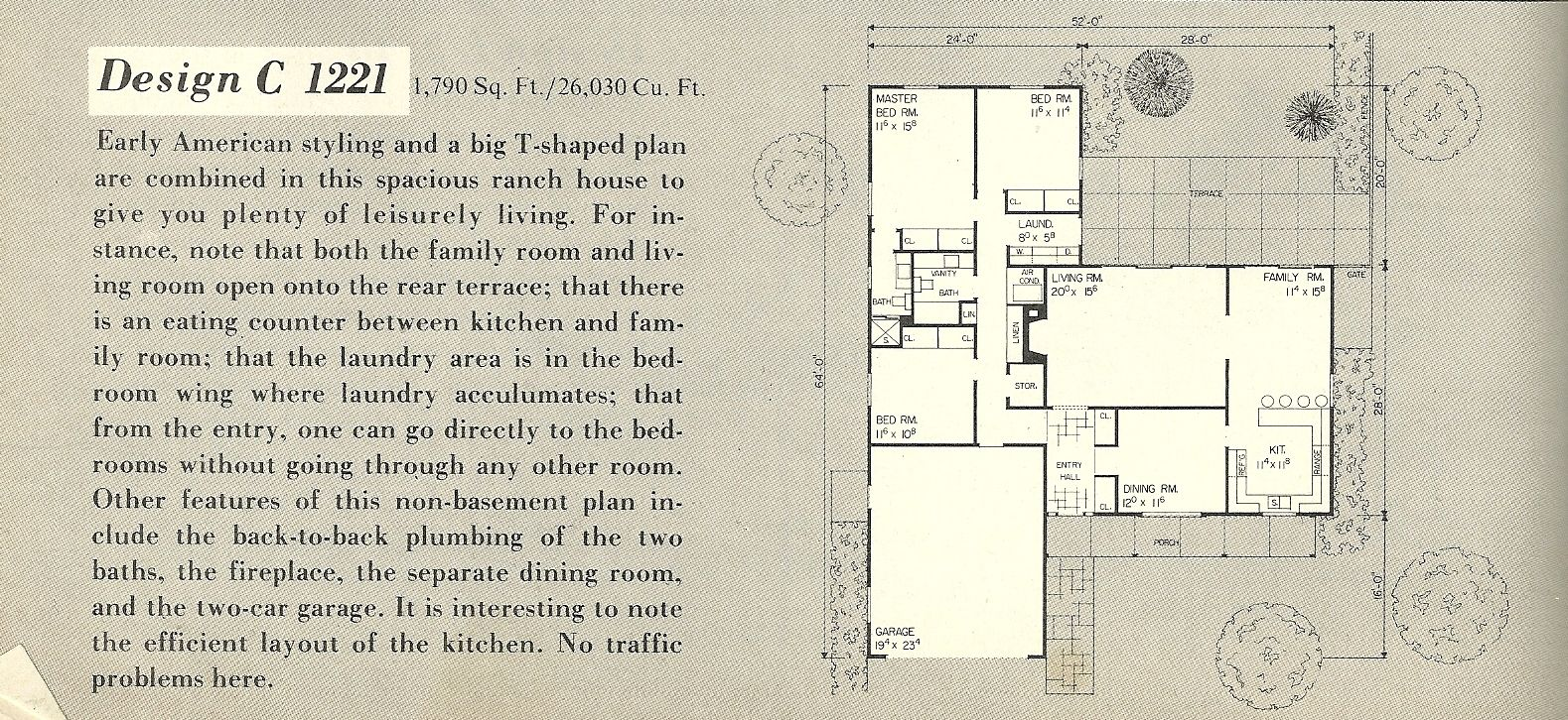 T shaped house designs vintage house plans 1960s l shaped and t