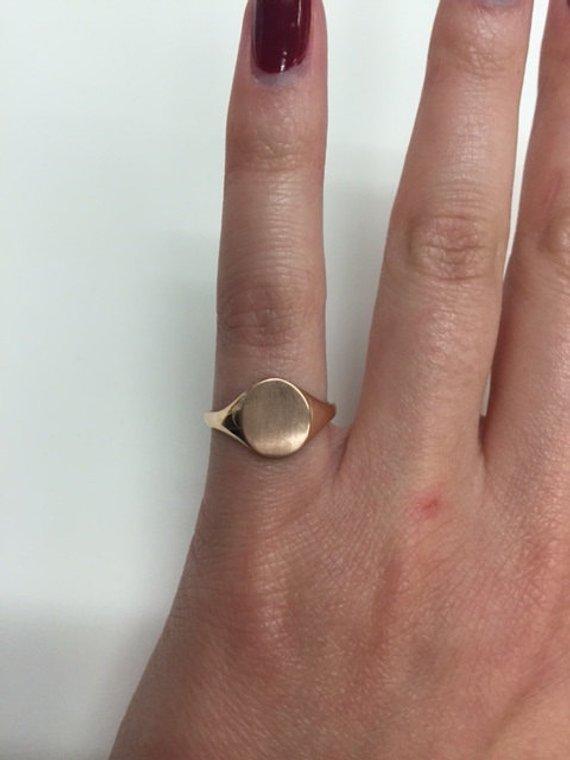 7744fc6ff 14kt Rose Gold Ladies Signet Ring Monogram Signet Ring for Ladies in 14kt  Rose Gold