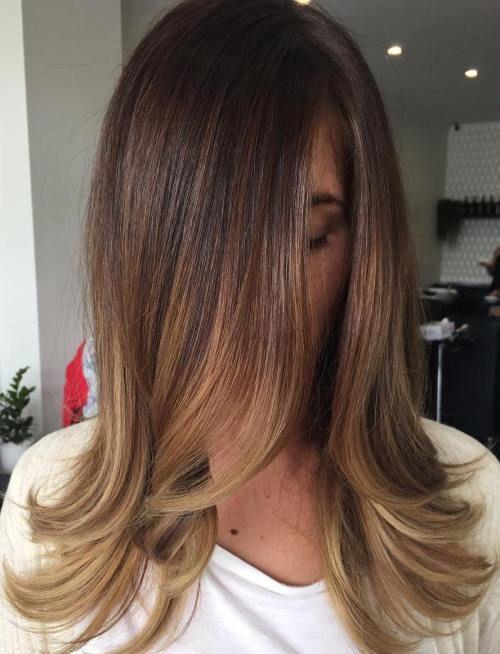 Bildergebnis Für Frisuren Schulterlang Braun Balayage