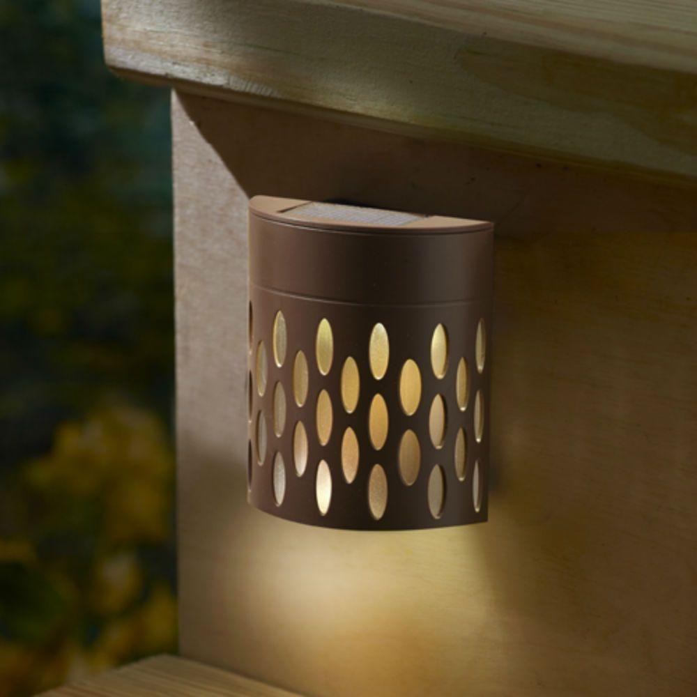 Moonrays Solar Bronze Integrated LED Mini Deck Light 95022