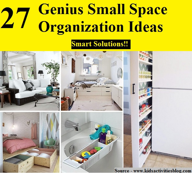 home organization ideas for small spaces