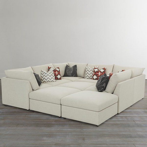 Modular Pit Sofa Square Couch Ideas White Upholstery Decorative