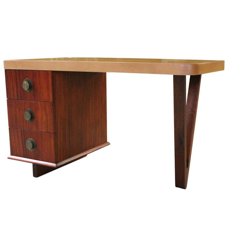 Cork Top Desk By Paul Frankl
