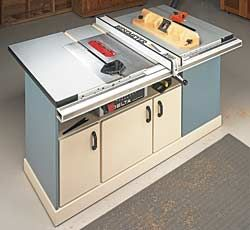 8 Free Benchtop And Contractor Table Saw Workstation Outfeed Plans