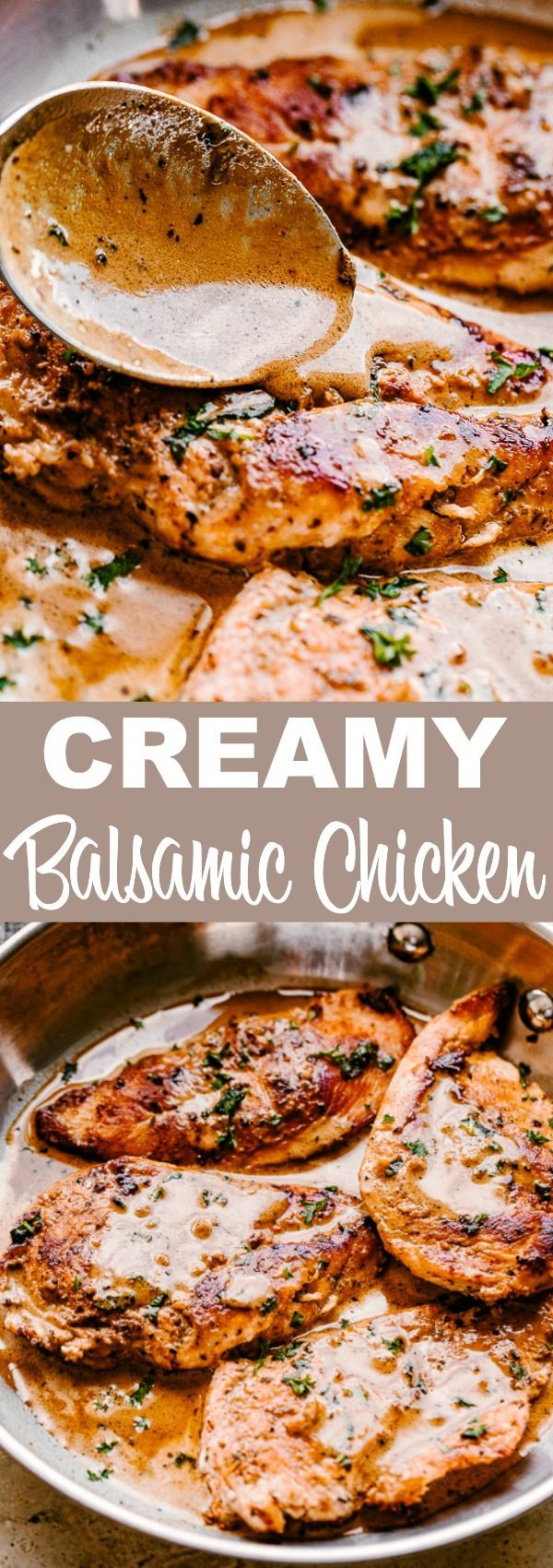 Juicy Skillet Balsamic Chicken Breasts | Easy Weeknight Recipes -   25 dinner recipes for family main dishes chicken breasts ideas