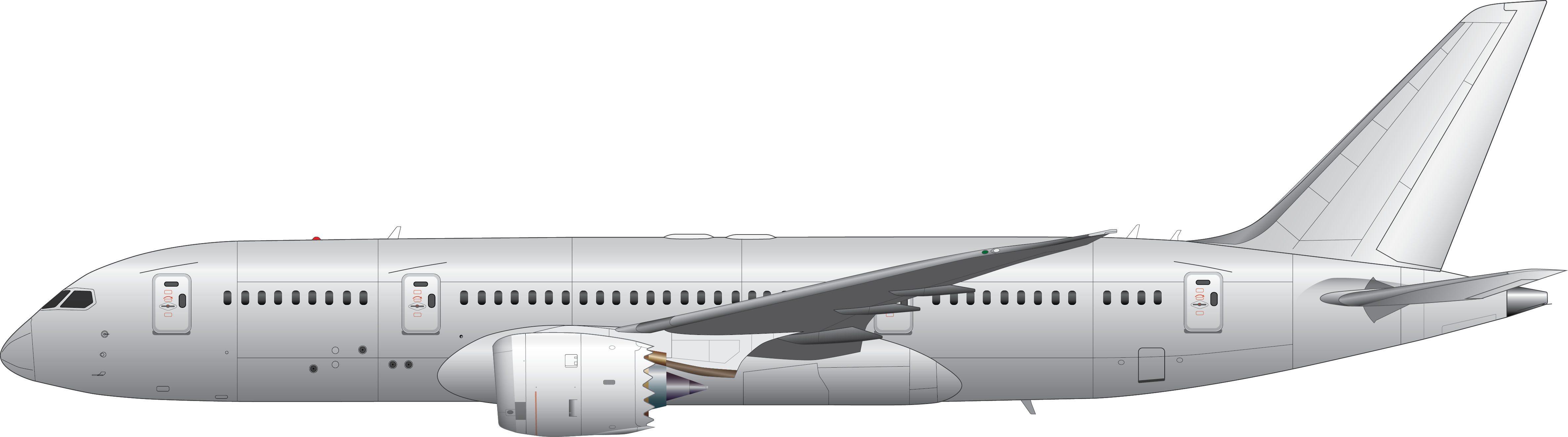 schematic of a 747 f