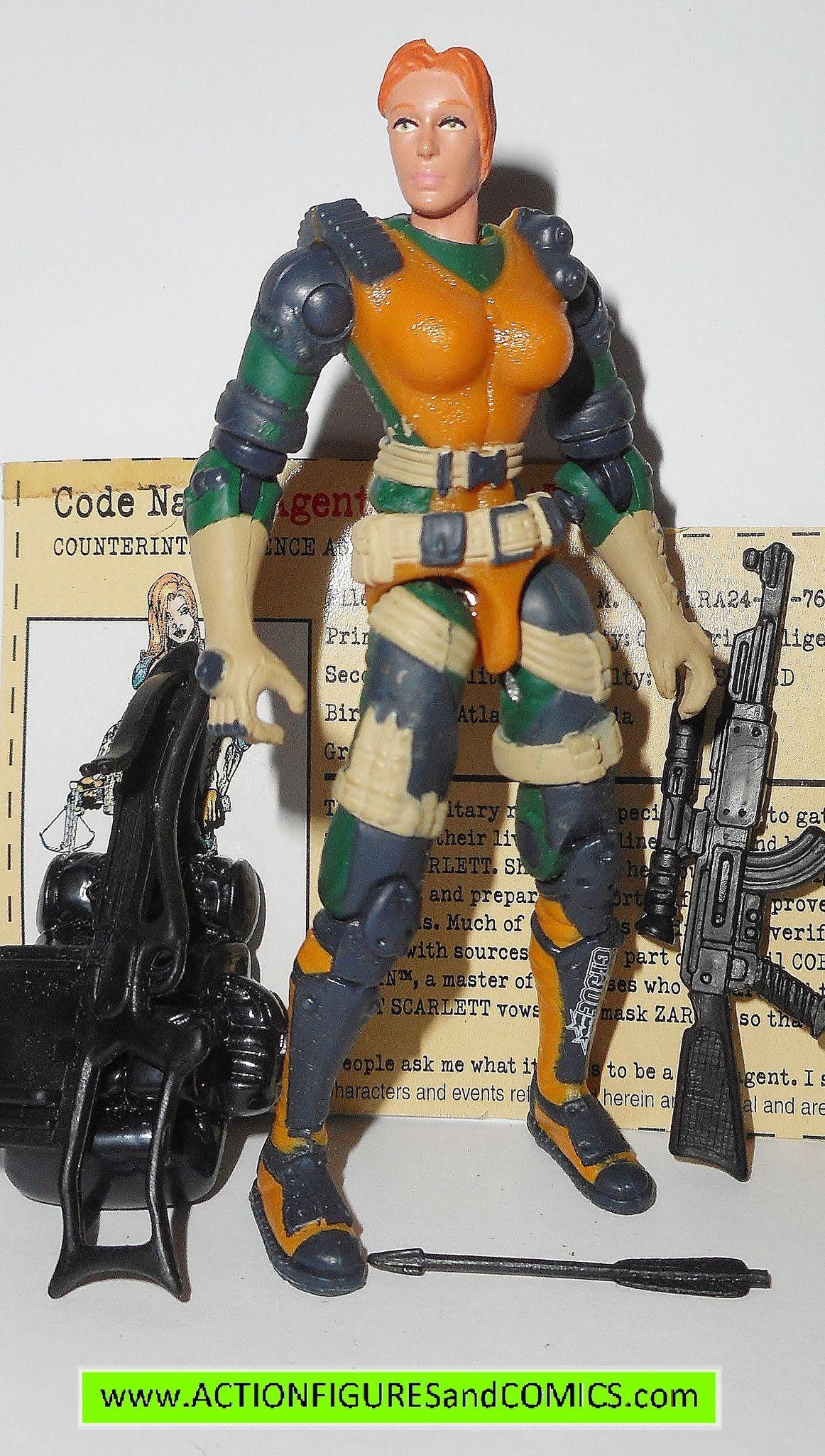 gi joe SCARLETT 2002 v7 agent g i vs cobra action figures gijoe