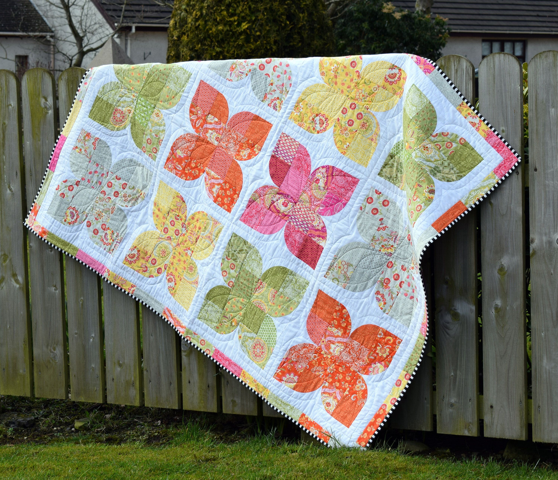 PDF Pattern: 'Butterfly Garden' Quilt | Garden quilt ...