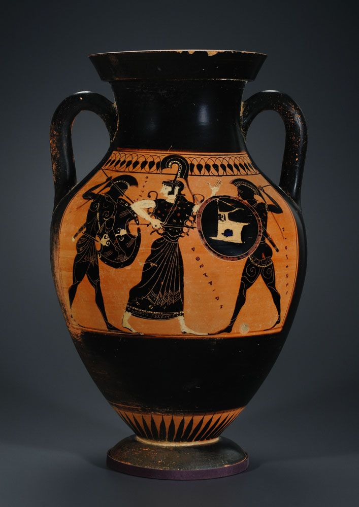 Greek Black Figure Amphora With Ulysses And Diomedes Work Of Art