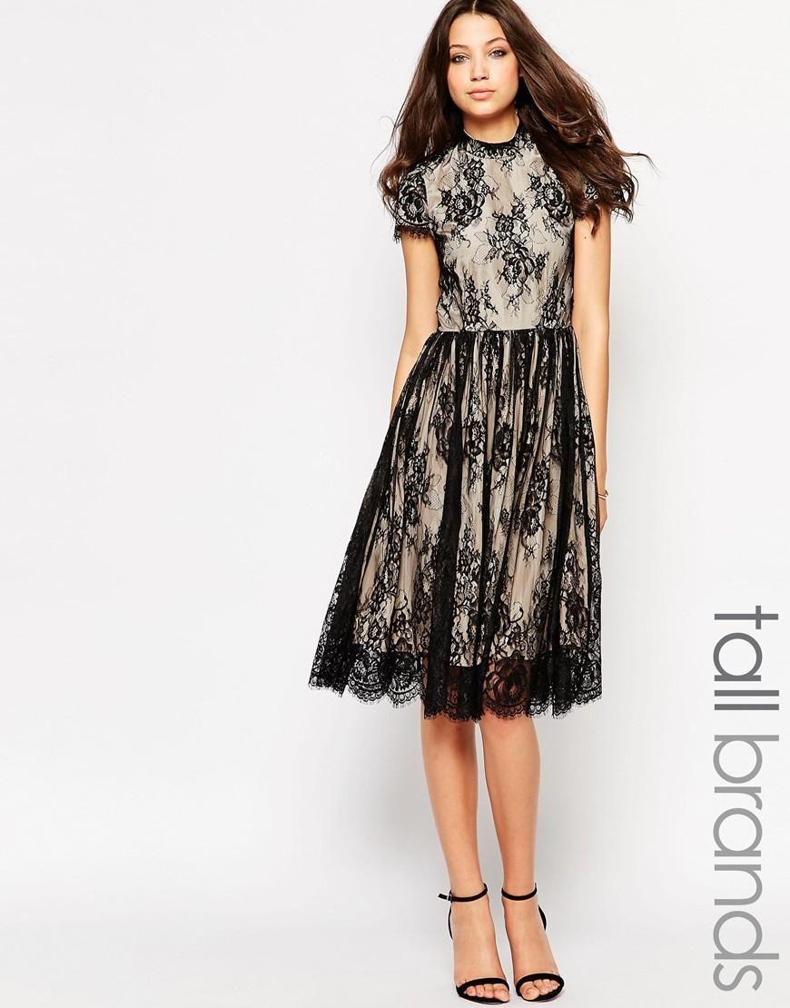 763c0b5e8ad Y.A.S Tall | Y.A.S Tall Alexis Lace Overlay Dress at ASOS ...