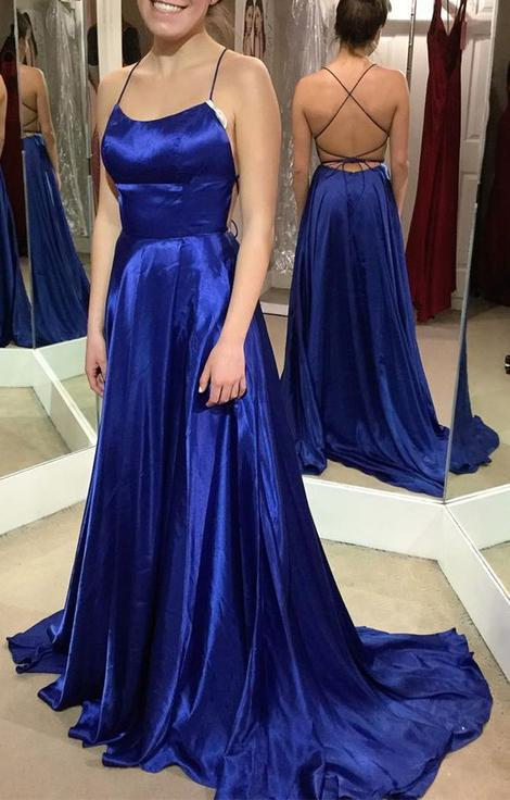 3c28cdaef98fd Royal Blue Simple Long Prom Dress Custom Made Formal Dress Fashion Winter  Dance Dress YDP0125