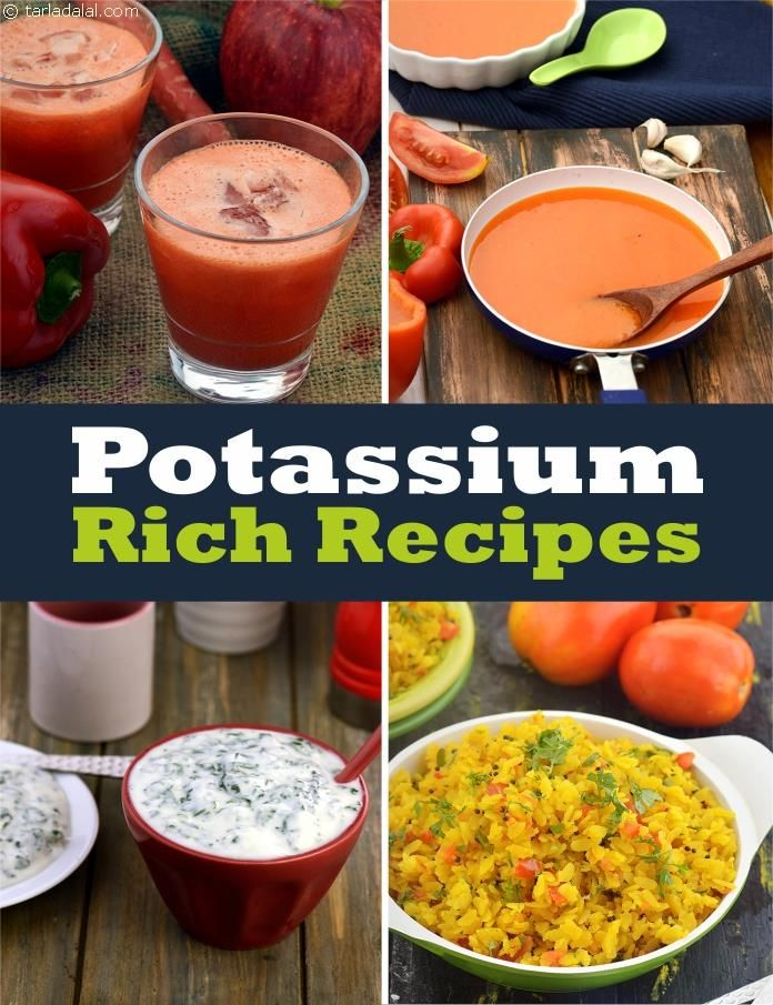 Healthy Potassium Rich Recipes, Potassium Rich Foods in
