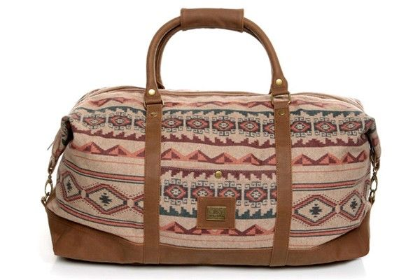 25 Southwestern Pieces To Add Some Spice To Your Wardrobe  #refinery29  http://www.refinery29.com/western-clothing#slide-15  Obey Sierra Southwest Print Duffel Bag, $90, available at LuLu's.