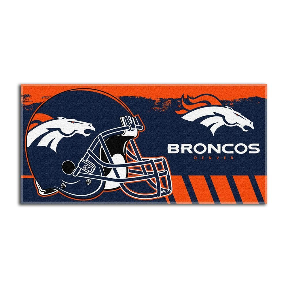 Denver broncos nfl fiber reactive beach towel gameplan series