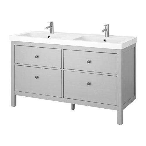 hemnes odensvik sink cabinet with 4 drawers gray bath pinterest meuble lavabo lavabo. Black Bedroom Furniture Sets. Home Design Ideas
