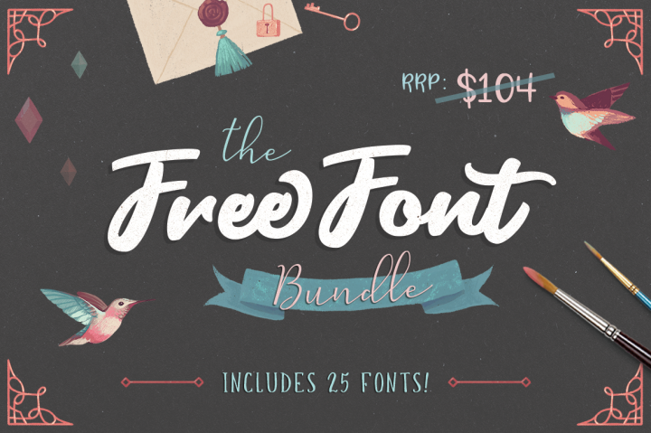 free font bundle! include 25 fonts Font bundles, Free