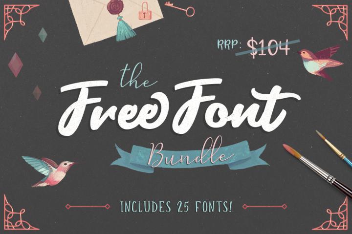 free font bundle! include 25 fonts Font bundles, Free