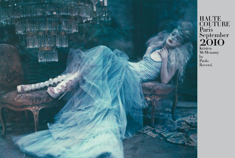 Kristen McMenamy by Paolo Roversi in The Grand Couture   Vogue Italia September 2010