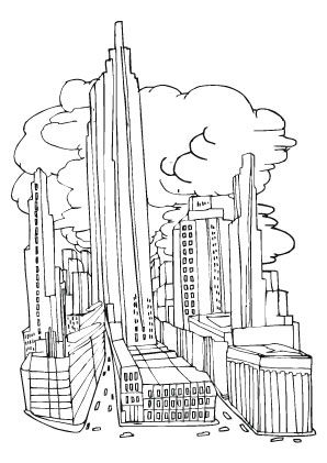 Ausmalbild Grossstadt Coloring Pages Easy Coloring Pages Disney Coloring Pages