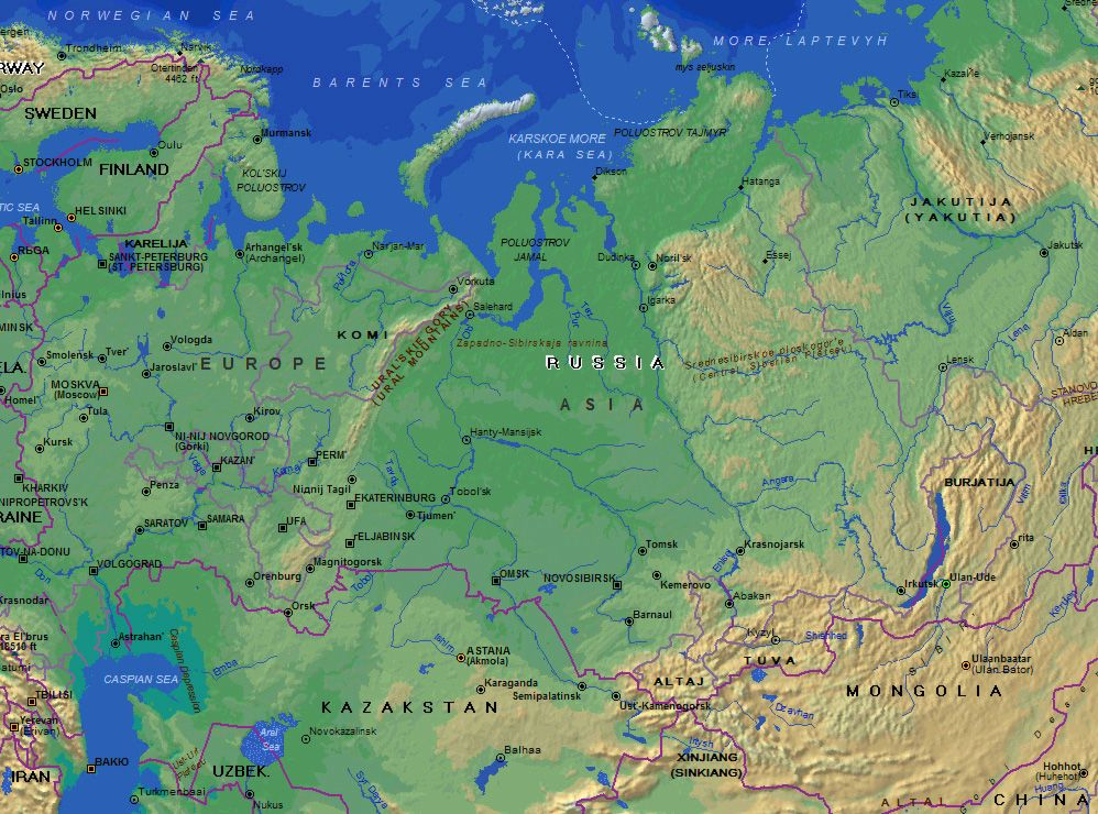 Ural mountains on world map Images | One World | Pinterest ...